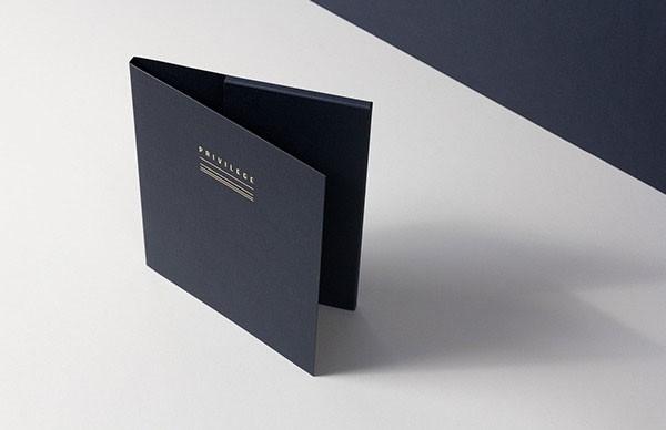 A folder for communication materials.