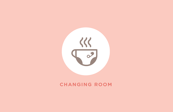 Changing room, an example of the icon design for the shop.