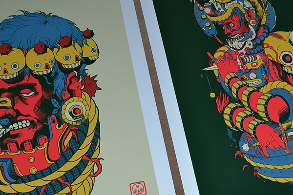 Close up of the posters.