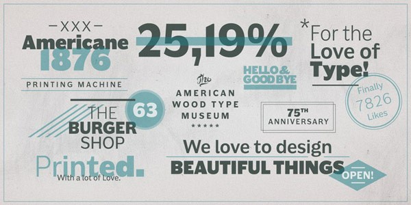 Examples of stylish letterings and titles - all created with the regular version of this font family.