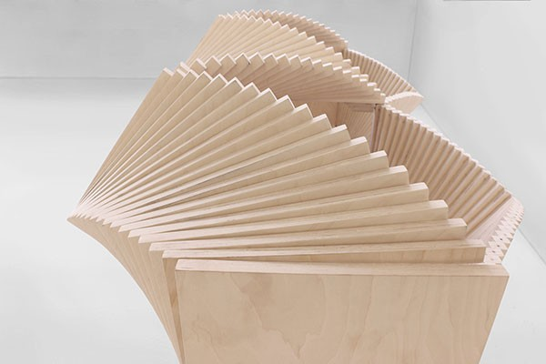 Wave cabinet deformable furniture by sebastian errazuriz for Designer furniture new york