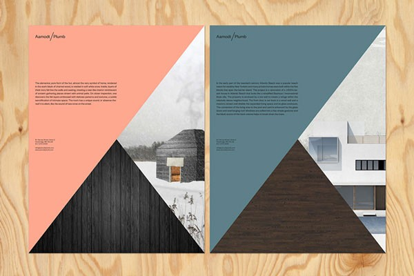 Printed collateral for an architecture studio.