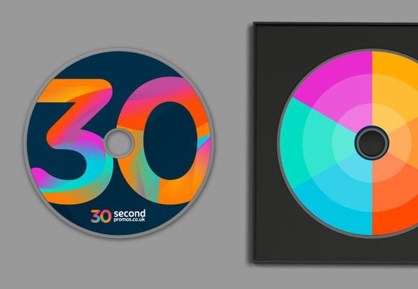 CD with logo print.