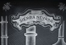 Sierra Nevada logo drawn with chalk.