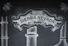 Sierra Nevada logo drawn with chalk.
