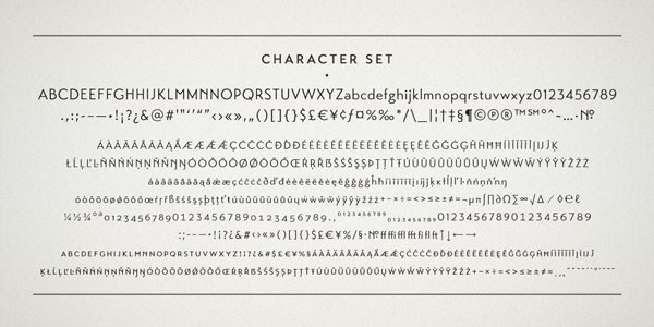 The character set supports multiple languages.