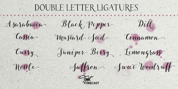Double letter ligatures.