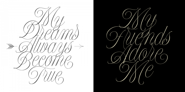 A beautiful calligraphy font for festive occasions.