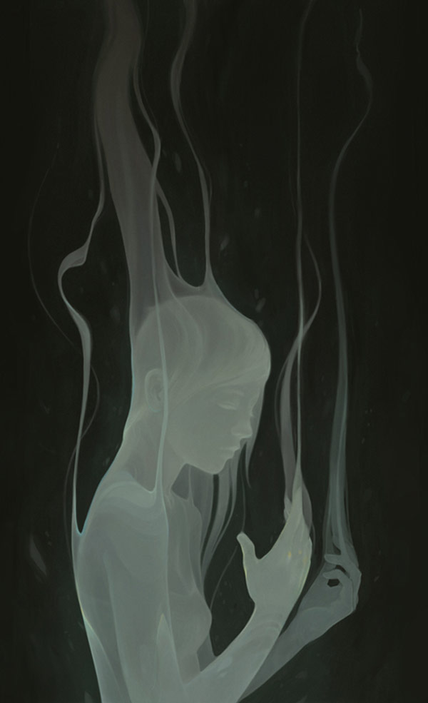 First 100% digital illustration by Ashley Mackenzie. Work with a slightly-transparent ghostliness touch.