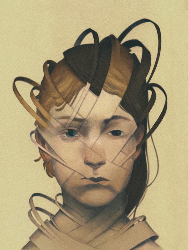 "Work created for the Tor.com short story ""Acrobatic Duality"" by freelance illustrator Tamara Vardomskaya."