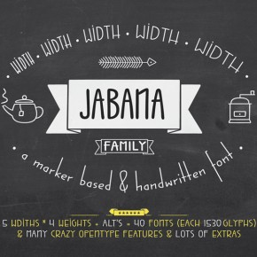 Jabana Font Family by Nils Thomsen