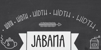 Jabana, a stylish font family for coffee and more.