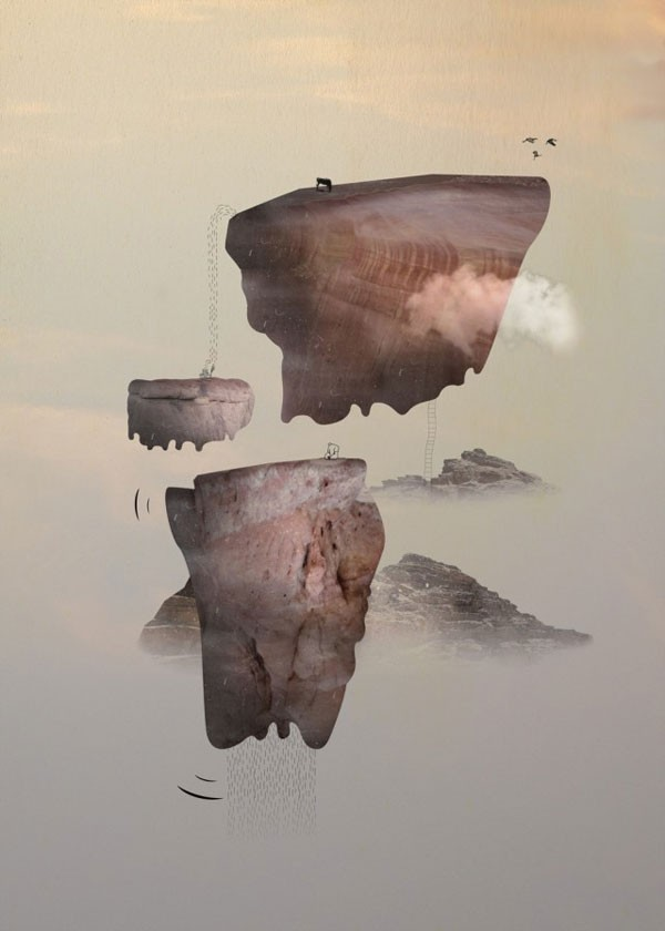 Surreal photo collages - piece of a series of dreamlike artworks.