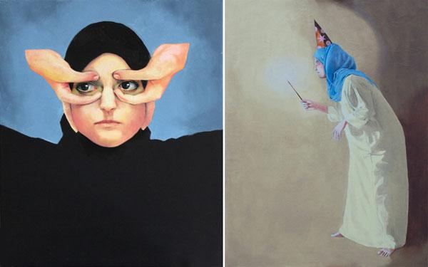 Self portraits by Fatma Al-Remaihi.