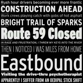 Interstate Font Family from Font Bureau
