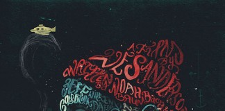 The Life Aquatic with Steve Zissou - typographic portraits by Peter Strain.