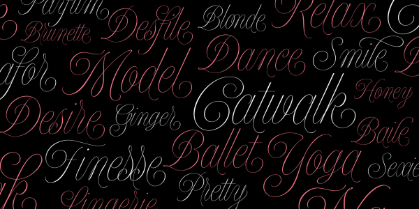 The Model font family by Maximiliano Sproviero of foundry Lián Types has a beautiful handwritten style with decorative swashes.