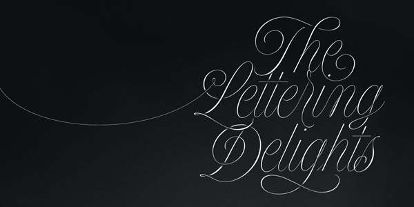 Type sample of this script font family.