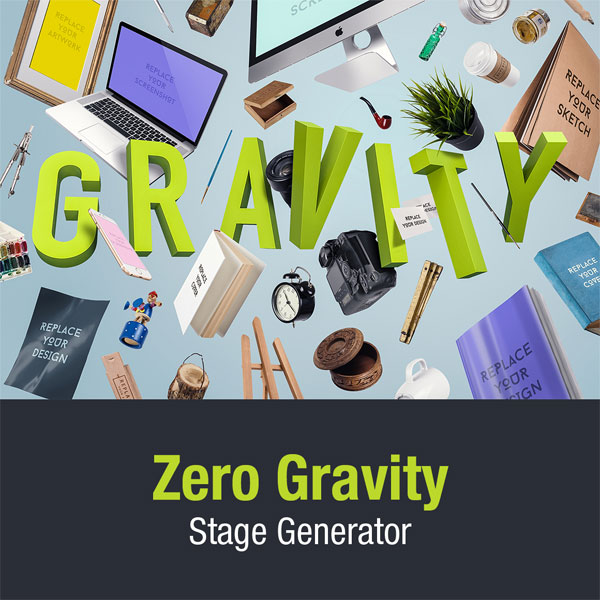 Zero Gravity Stage Generator – Photoshop Mockup