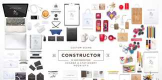 Custom Scene Constructor, an extended product mockup from itembridge creative store.