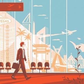 Travel+Leisure Magazine Illustrations by Tom Haugomat