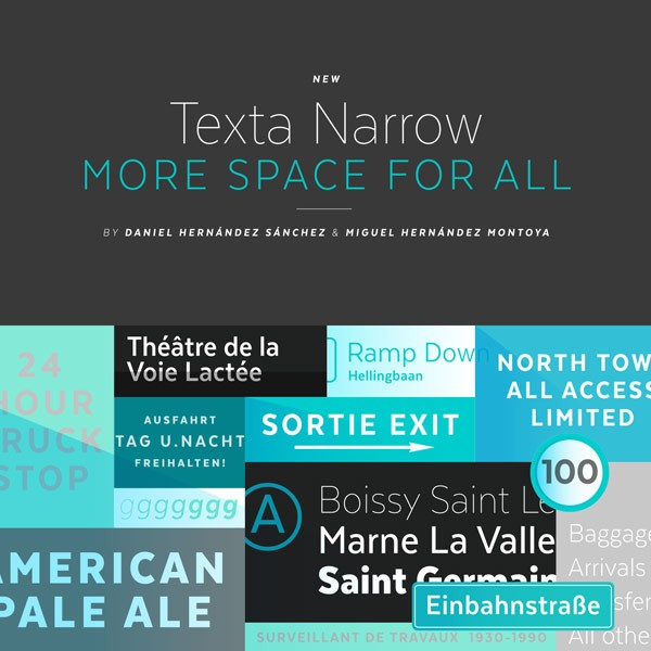 Texta Narrow Font Family from Latinotype
