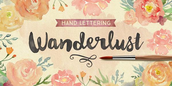 Wanderlust Letters – Hand Painted Script Typeface