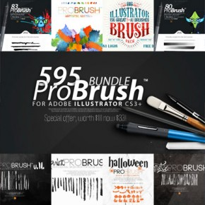 595 Adobe Illustrator Brushes from ProBrush™ for Download