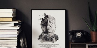 Alfred Hitchcock - Work from a series of movie director portraits.