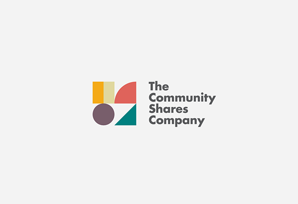 Community Shares Company Branding - Graphic logo design with simple geometric shapes.