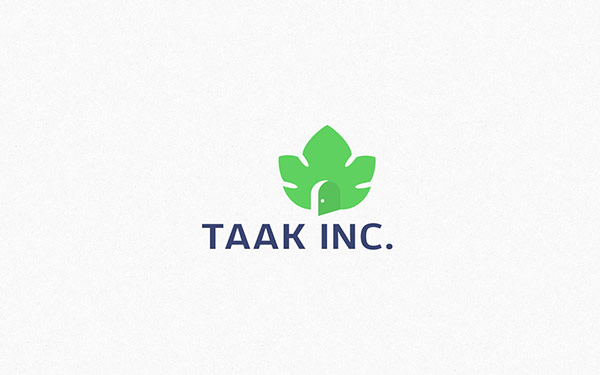 Logo design and branding by Ramin Nasibov for Taak Inc, an architecture and construction company.
