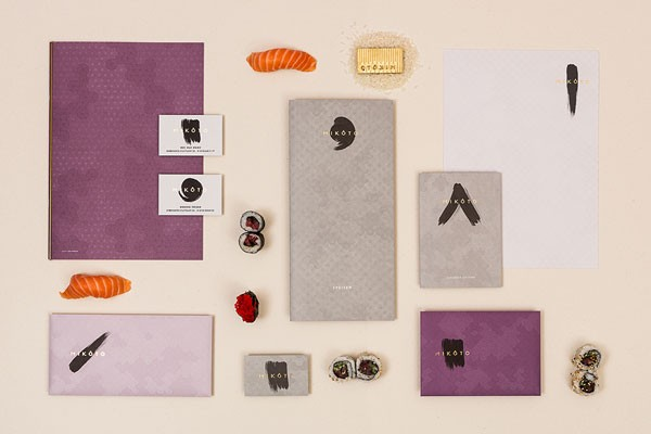 MIKÔTO Japanese Cuisine - Restaurant branding materials.