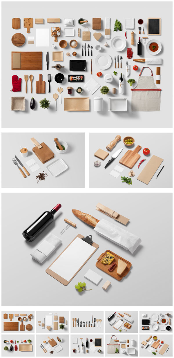 The Restaurant and Food branding mock-up.