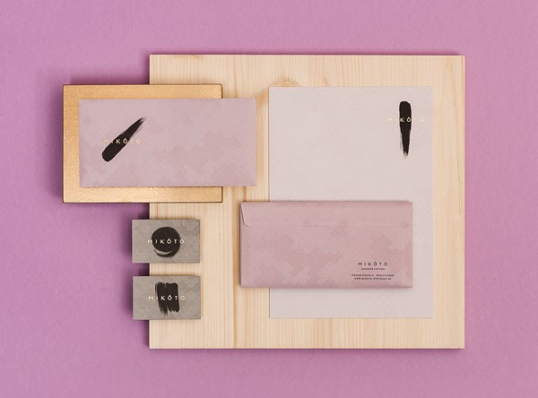 Noble printed collateral of the  Japanese restaurant branding.