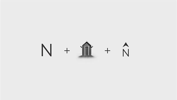 Steps of logo inspiration.