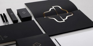 The noble stationery set in black and white plus gold.