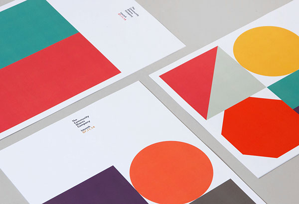 Close up of the branding materials created by Manchester based studio Fieldwork.