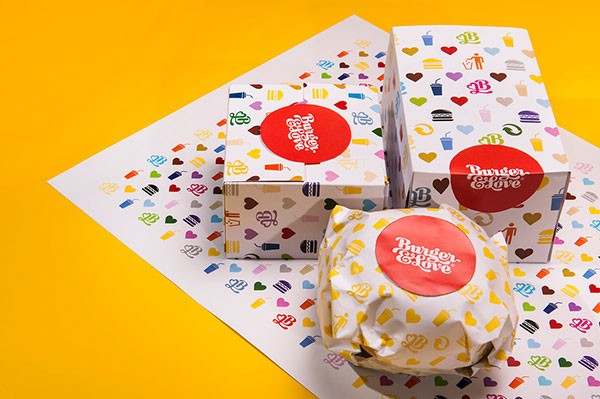 Close up of the food packaging design.