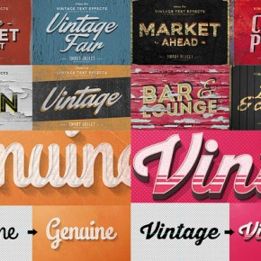 50 Vintage Text Effects Bundle