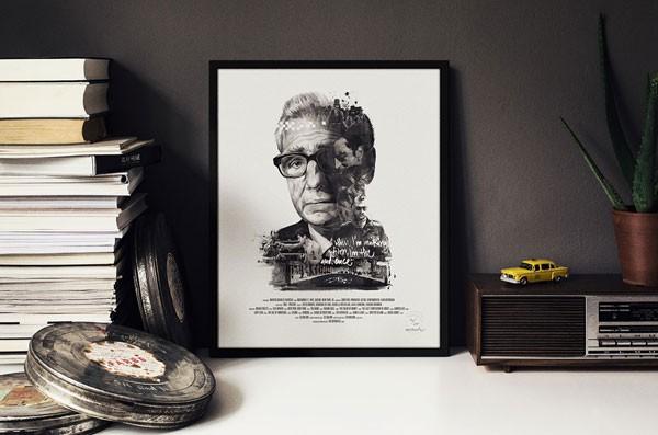Martin Charles Scorsese poster artwork.