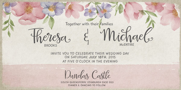 You can use it for festive invitations such as weddings or birthdays.