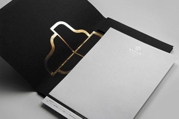Folder and letterhead.