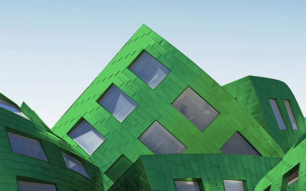 Brand imaging of architecture in the typical green.