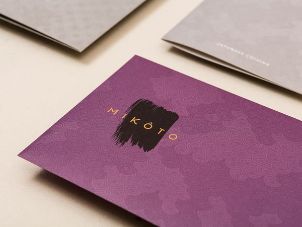 Close up of the stationery.