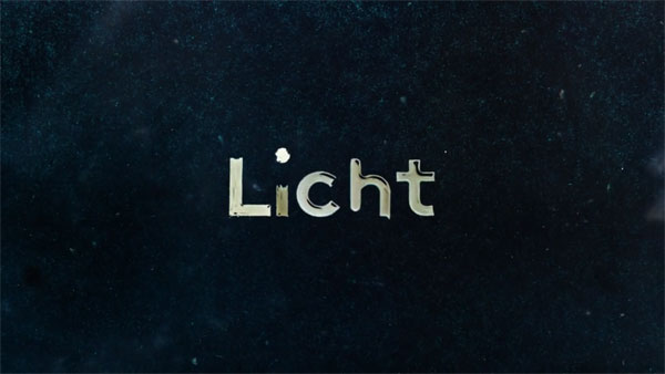 Licht - animated type effects.