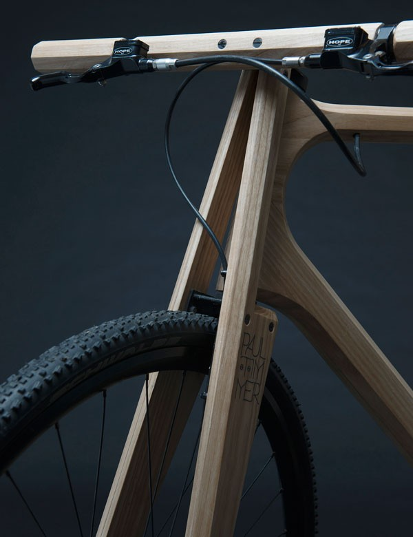 This wooden bike was designed by Paul Timmer, a product and furniture designer based in Amsterdam, the Netherlands.