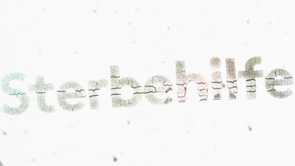 Still from a series of typographic effects and animations.