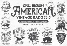 American Vintage Badges 5.