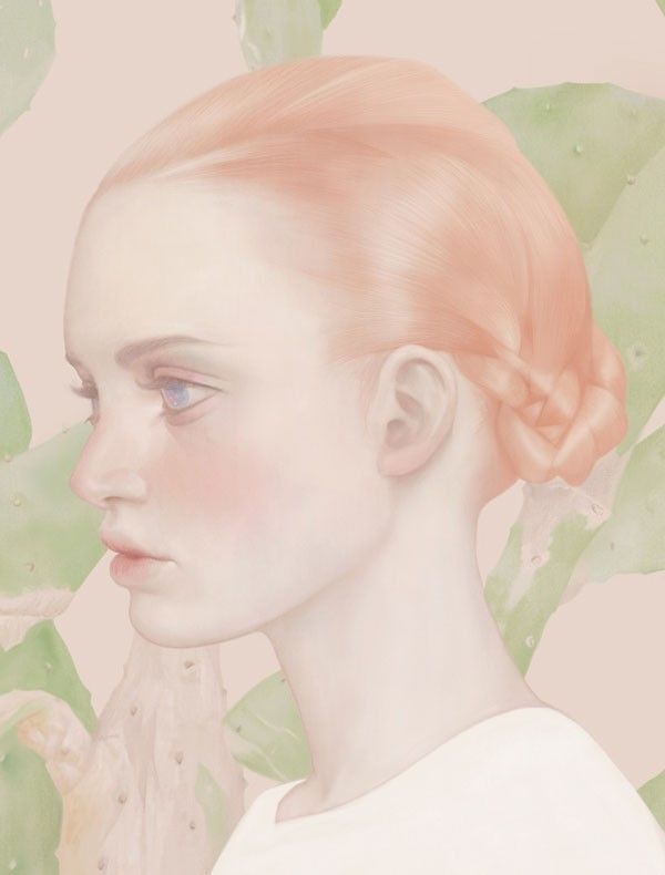 CACTACEAE - Portrait by HSIAO-RON CHENG, a Taipei, Taiwan based illustrator.