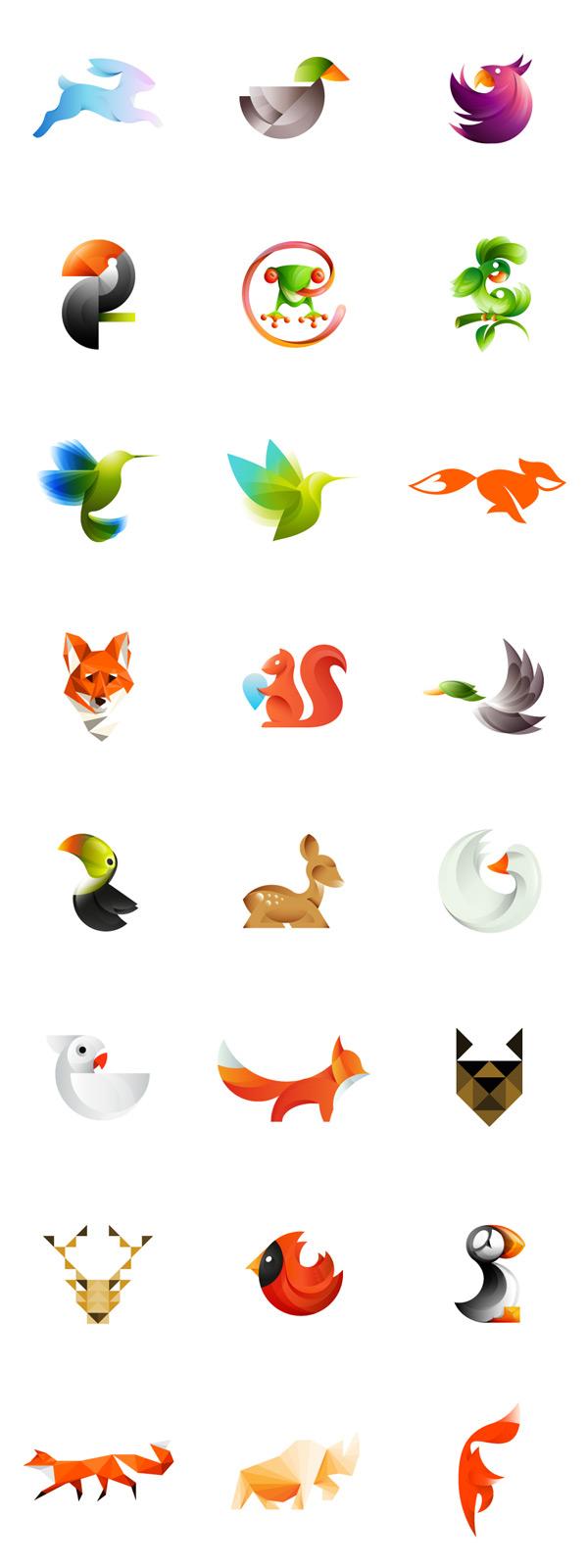 Colorful Animal Logos by Ivan Bobrov